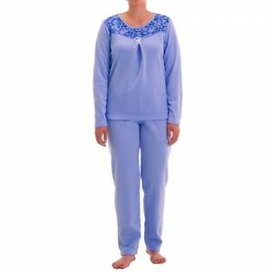 Women's Thermal Pajamas Long Textured Padded Autumn Winter Size S M L XL XXL