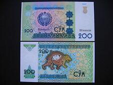 UZBEKISTAN  200 Sum 1997  (P80)  UNC