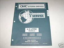 OMC Cobra 4.3 Liter Stern Drives Parts Catalog 1996