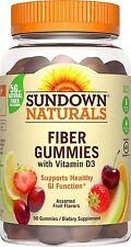 Sundown Naturals Fiber With Vitamin D3, 50 Gummies