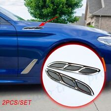 Pair Car Dody Door Fender Simulation Air Vent Outlet Decorate Decal Accessories