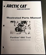 2007 ARCTIC CAT SNOWMOBILE PANTHER 660 TRAIL PARTS MANUAL P/N 2257-737  (513)