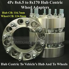 8x6.5 To 8x170 Hub Centric Wheel Adapters 2 Inch Use Ford Wheels on Chevy & GMC