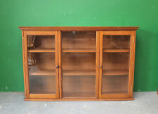 Large Solid Oak Glazed Bookcase, Shelving, Traditional, Antique Style, Cabinet