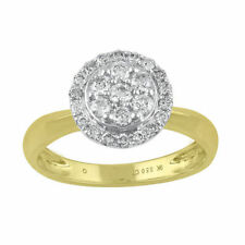 Diamond Halo Fine Rings