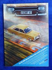 Ford Escort GT - Werbeanzeige Reklame Advertisement 1971 __ (808