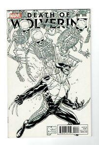 Death of Wolverine (Marvel 2014) #1 Joe Quesada B&W Sketch 1:500 Variant (NM-)