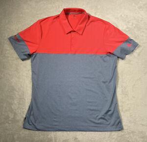 Adidas Golf Shirt ClimaCool Men's XL Short Sleeve Stretch Microfiber Geometric