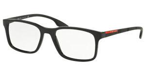 PRADA LINEA ROSSA SPORT Glasses Spectacle Optical Frame BLACK PS01LV BLACK