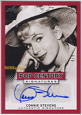 "2013 LEAF POP CENTURY AUTO: CONNIE STEVENS #4/5 AUTOGRAPH ""BILLBOARD HIT SONGS"""