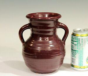 North Carolina Vase Vintage Pottery Sunset Mountain Arts & Crafts Signed Label
