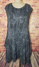 Bryn Walker Women's L Knit Tunic Dress Gray Drapey Lagenlook Sleevless Tank