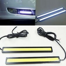 2X Waterproof 12V COB White Car LED Lights for DRL Fog Driving Lamp 17CM Daytime