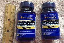 TWO >>> Super Strength Melatonin, 120 capsules (total). 10 mg each
