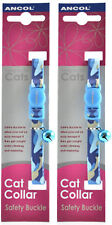 Ancol Camouflage Cat Collar Blue 2 Pack Deal
