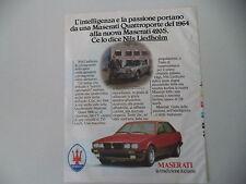 advertising Pubblicità 1986 MASERATI 420 S e NILS LIEDHOLM