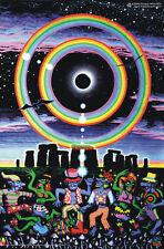 Poster UV Luce Nera Fluorescente Illumina Al Buio Arte Psichedelica Psy Goa