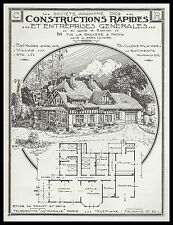 PUBLICITE   ENTREPRISE CONSTRUCTION MAISON ARCHTITECTE à ARES GIRONDE AD  1922