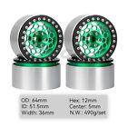 "2.2"" Aluminum Beadlock Wheel Rim for 1/10 RC TRX-4 TRX-6 Axial SCX10 RR10 Wraith"