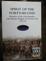 42nd Australian WW1 Bn ' SPIRIT OF THE FORTY- SECOND 42 Battalion  AIF 1914-18