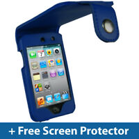 Blue PU Leather Case for Apple iPod Touch 4th Gen 4G 8/32/64GB iTouch Cover