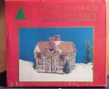 """Share The Joy Porcelain House """"Candle Holder""""(In-Box)"""