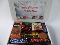 Personalised Christmas Mens Chocolate Cadburys hamper gift Dad Brother uncle