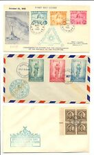 PHILIPPINES 1943/1946 --3 x FDC --F/VF