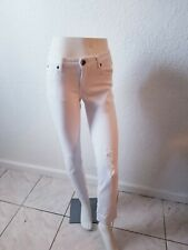 Kut from the kloth boyfriend white jeans size 4 regular distressed