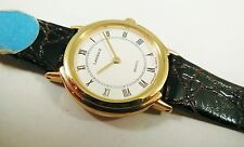 Lassale by Seiko Gold Tone Metal 2L10-0020 Calfskin Sample Watch NON-WORKING