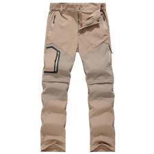 Men Combat Convertible Pant Shorts Outdoor Climb Hiking Trousers Work Army Camo