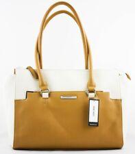 496bd62ed42cc Nine West Damen Handtasche Eckig Braun Weiß Handtasche Tasche Original Damen  Neu