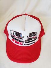 4089dbb8ca3 FMC VANGUARD VTG TRUCKERS HAT RED WHITE SNAPBACK MESH BACK PRE-OWNED