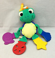 "Baby Einstein Neptune Turtle Tug Play Pull Teether Blue Red Yellow Plush 9"" Toy"