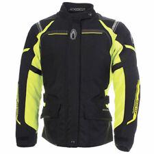 Richa Storm Waterproof Motorcycle Motorbike Textile Jacket CE Armour Black Fluo