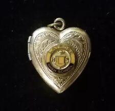 Sweetheart Latrobe High School Pennsylvania Gold Filled Enameled Heart Locket
