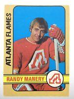 1972-73 Randy Manery Atlanta Flames 260 OPC O-Pee-Chee Hockey Card S020