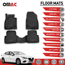Nylon Carpet Coverking Custom Fit Front and Rear Floor Mats for Select Mazda 3 Models Black CFMBX1MA7304