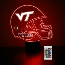 Virginia Tech Personalized Night Light Lamp NCAA College Football Gift Light