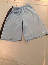 Nike Youth Size Large L Boys Unisex Blue with Light Blue Athletic Soccer Shorts