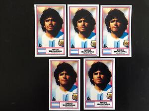Diego Maradona X 5 Cards Rothmans Football International Stars Card 1984