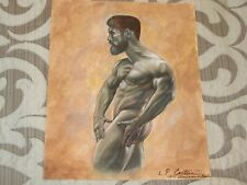 ORIGINAL Nude Male Painting, 2017, Artist Signed, Dated & Titled; Gay Interest