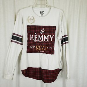 REMMY FINE CHAMPAGNE COGNAC 1738 Long Sleeve PROMO TShirt Top Mens L Advertising