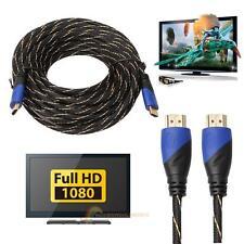 Neue Geflochtene HDMI Kabel V1.4 AV HD 3D für PS3 Xbox HDTV 15M Meter 1080P
