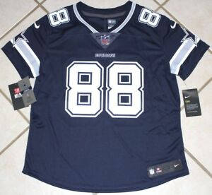 NEW $150 NIKE Dallas Cowboys DEZ BRYANT LIMITED Jersey WOMEN'S Navy Blue SEWN