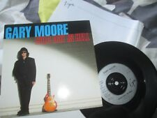 Gary Moore Cold Day In Hell Virgin VS 1393 UK 7inch Vinyl Single + Press Release