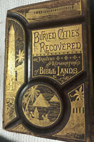 BURIED CITIES RECOVERED Dehass 1887 Leather Egypt Jerusalem Crusades RARE BOOK