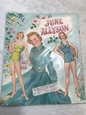 RARE VINTAGE JUNE ALLYSON PAPER DOLLS CUT BOOK 2089