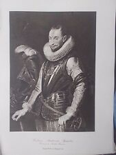 VINTAGE 1927 PRINT AMBROSIO SPINOLA  By PETER PAUL RUBENS