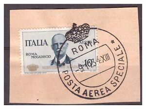 Italien: Seltene Dienstmarke D12 gestempelt Briefstück, Michel: 11.000 Euro??